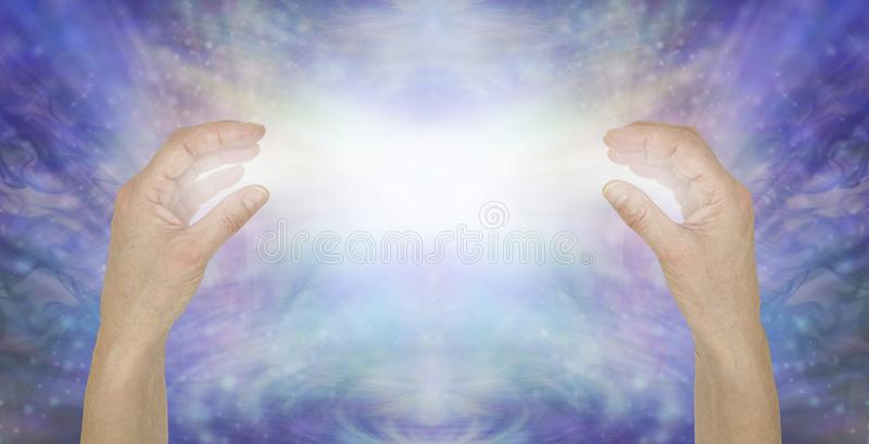 Sending pure unconditional love healing energy vector illustration