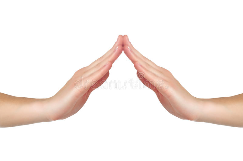 Female hands touch each other royalty free stock photography