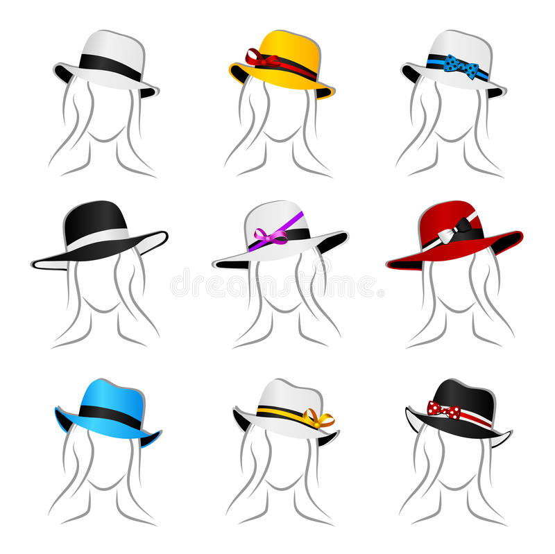 Download Female Hats Stock Image - Image: 22675291