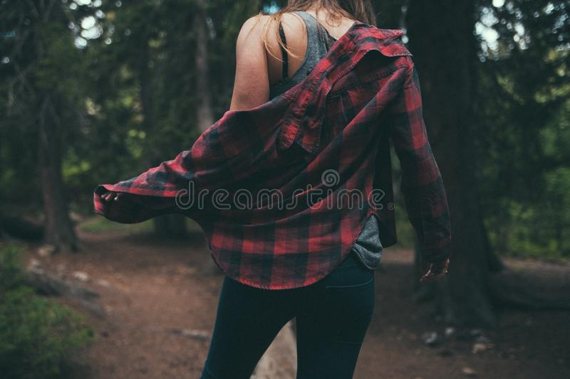 Female Hiker In Forest Free Public Domain Cc0 Image