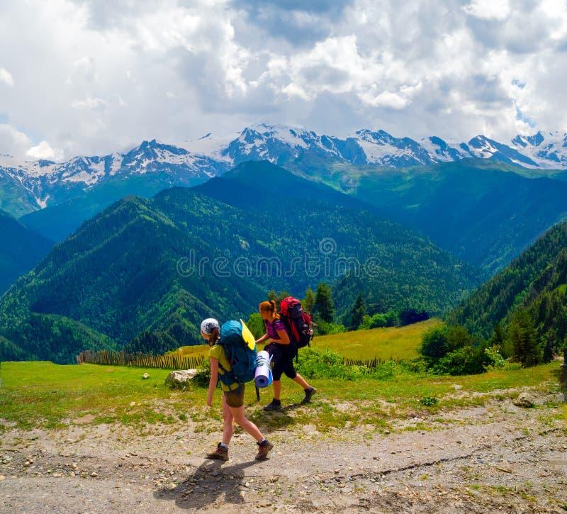 Download Female Hikers Treking In Svaneti Stock Images - Image: 37571334