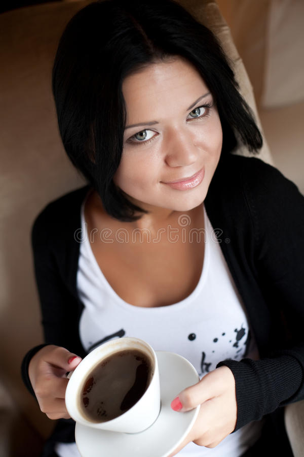 Download Female Holding A Mug Of Coffee Stock Image - Image: 12031727