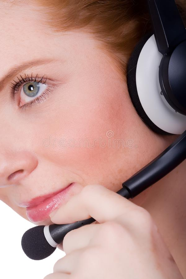 Female hotliner royalty free stock photos