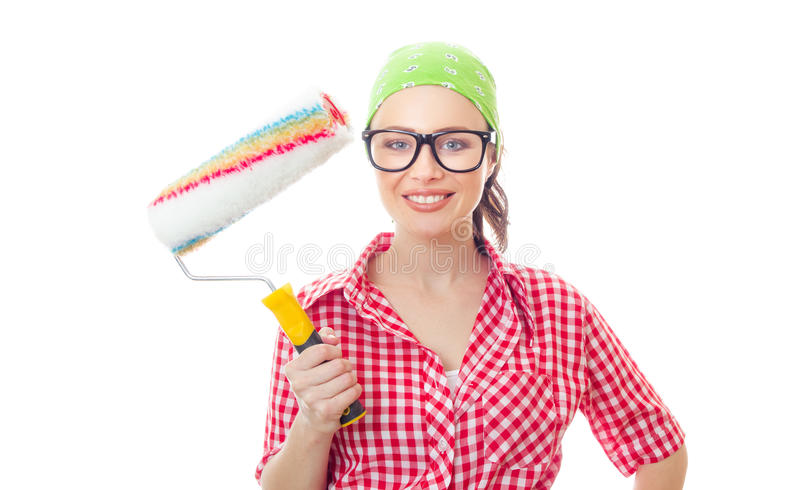Female houseworker stock photography