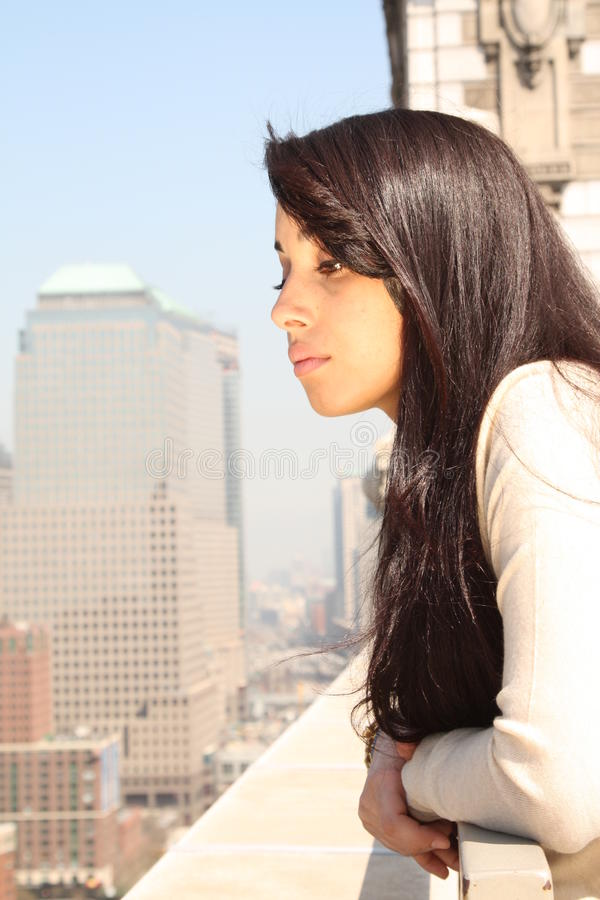 Free Female In Big City Royalty Free Stock Image - 9379486
