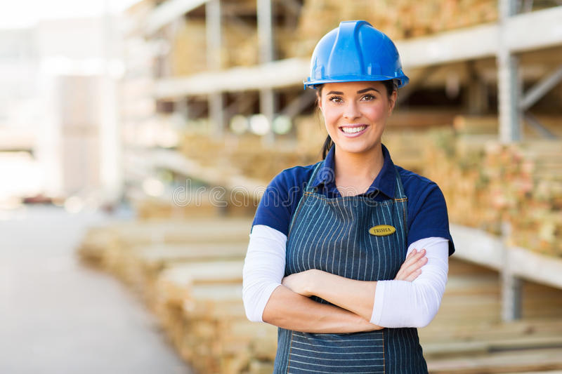 Female industrial worker royalty free stock photos