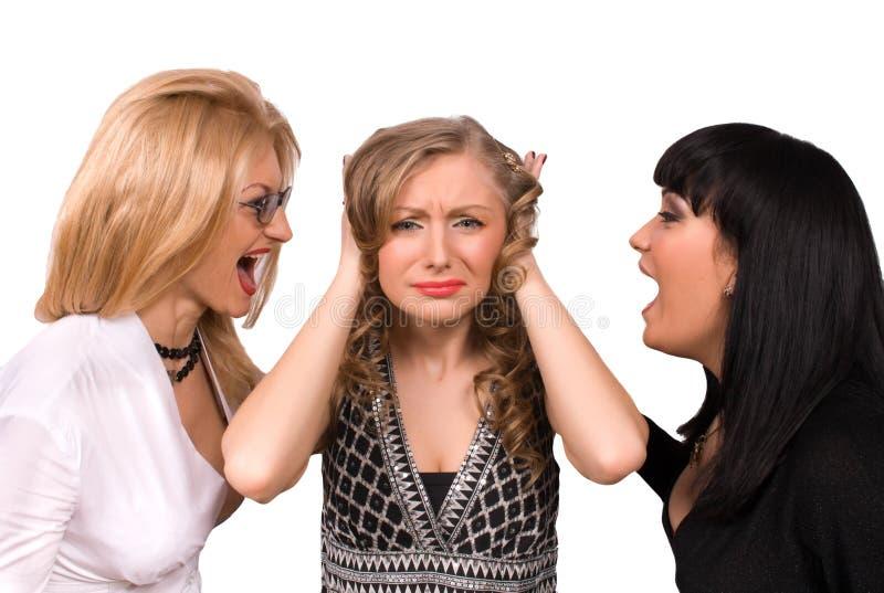 female isolated screaming shocked στοκ φωτογραφία με δικαίωμα ελεύθερης χρήσης