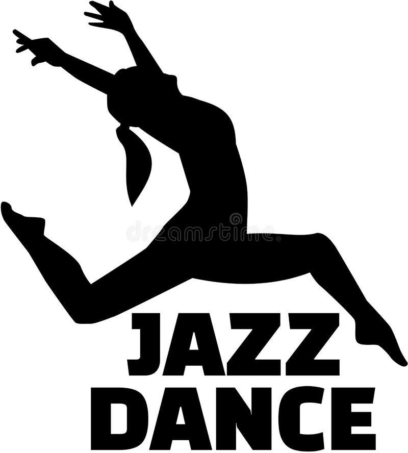 Female jazz dancer vector illustration