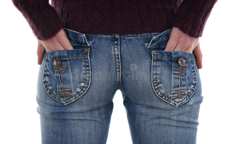 Female In Jeans Royalty Free Stock Images