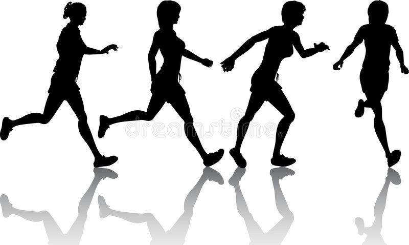Female joggers vector illustration