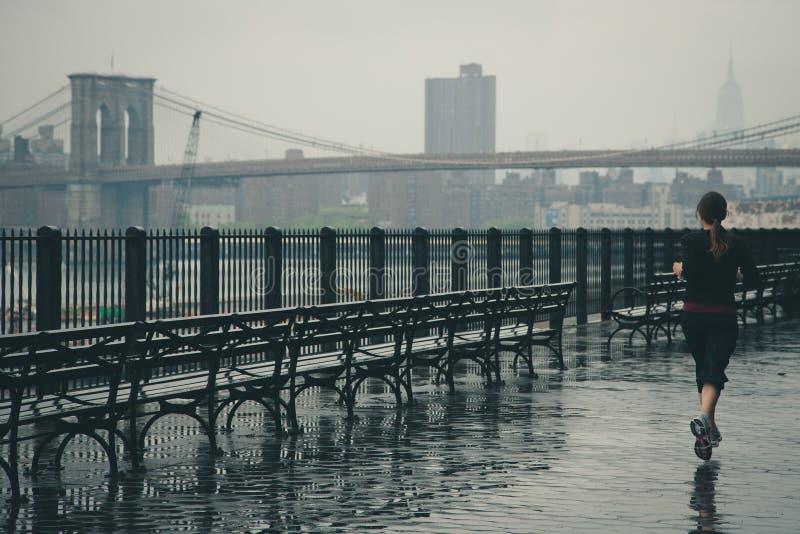 Female Jogging Near Brooklyn Bridge Free Public Domain Cc0 Image