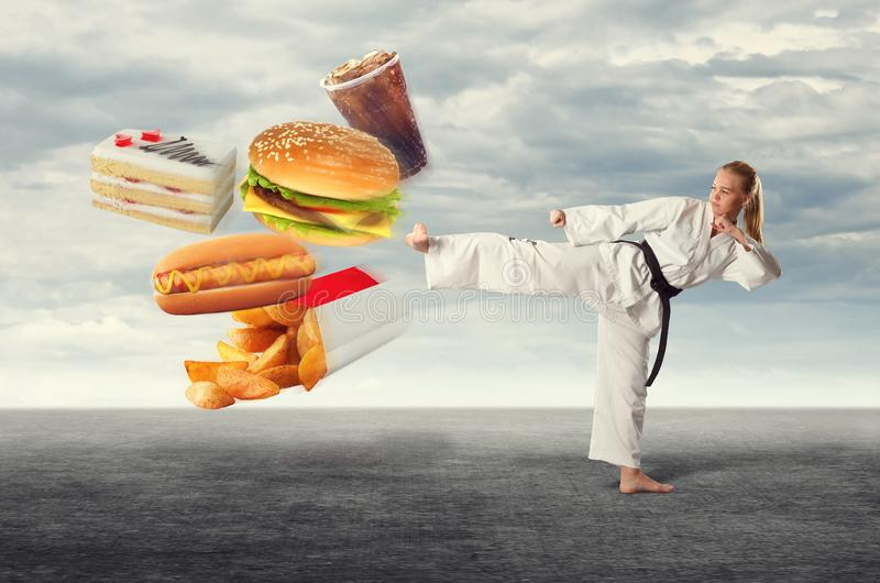 The diet of the athlete. royalty free stock image