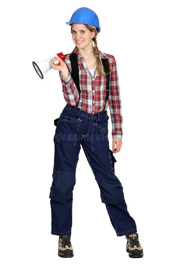 Female Laborer Royalty Free Stock Photo