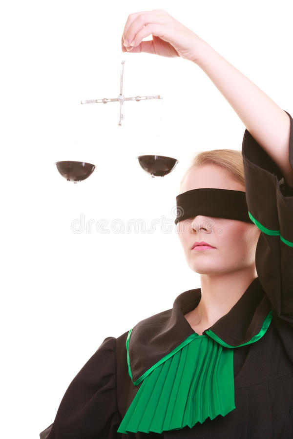 Download Female Lawyer Attorney In Classic Polish Black Green Gown And Scales Stock Photo - Image of advocate, holding: 39507490