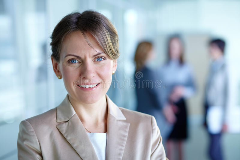 Download Female leader stock image. Image of businesspeople, happy - 25942307