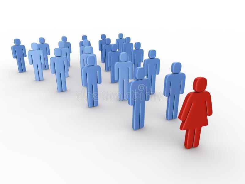 Female leader vector illustration