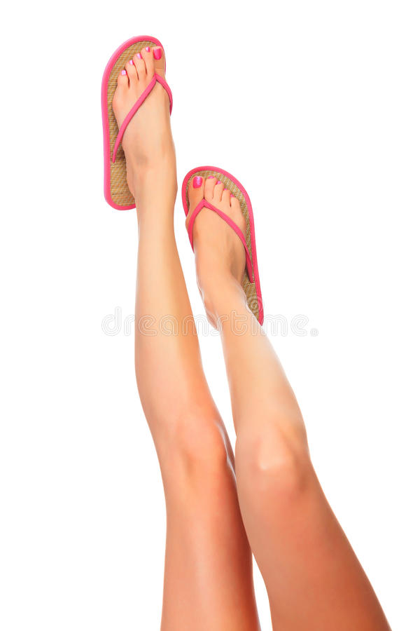 Download Female legs with sandals stock image. Image of position - 23784505