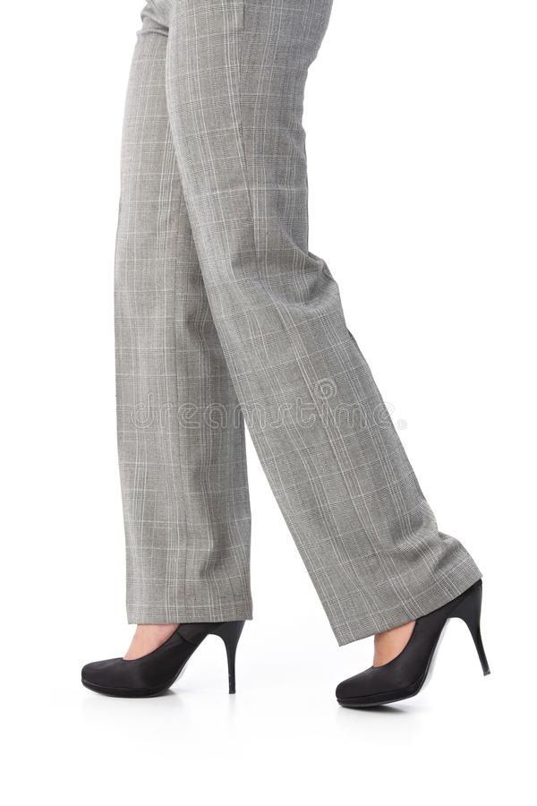 Download Female Legs In Trousers And High Heels Stock Image - Image: 24455929