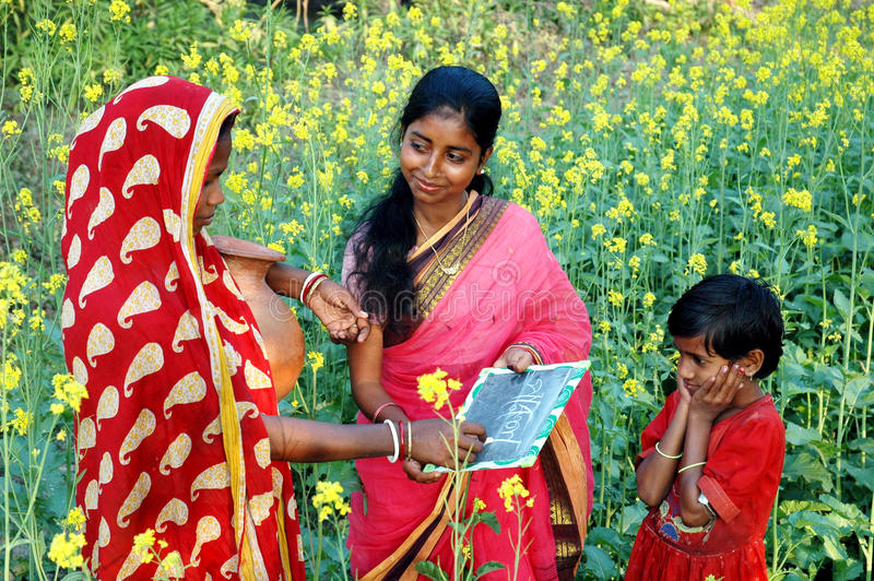 Female Literacy in India. According to last census held in 2001, the percentage of female literacy in the country is 54.16%.The literacy rate in the country has stock image