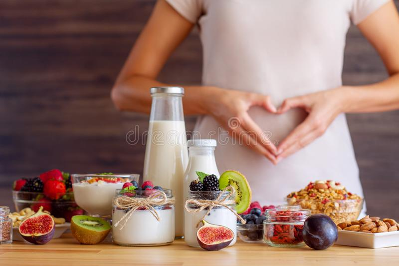Healthy fitness food for breakfast stock photo