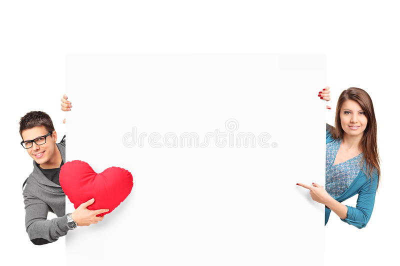 Download Female And Male With Heart Shaped Object Stock Image - Image: 25113299