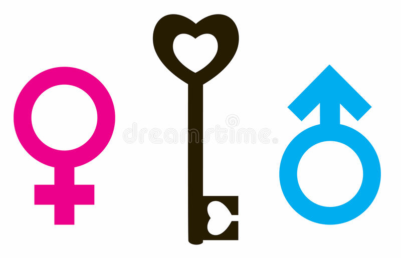 Female and male symbol royalty free illustration