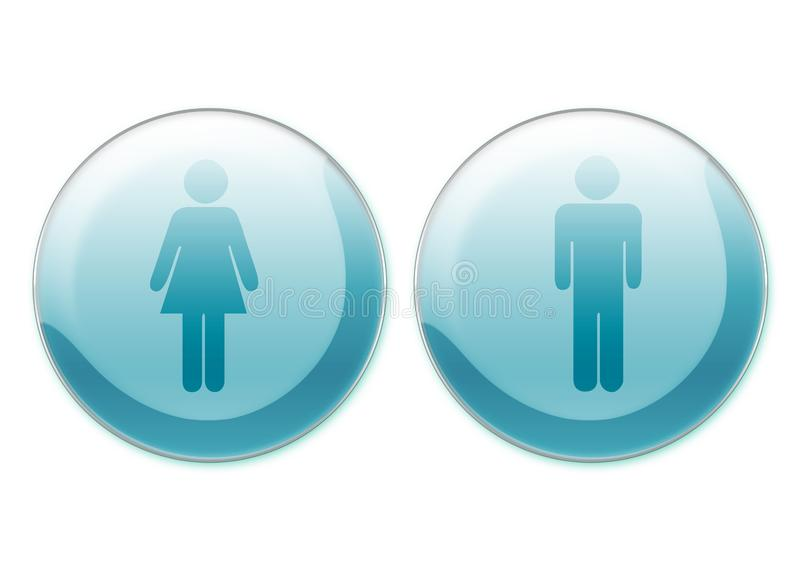 Female and male symbols royalty free stock images