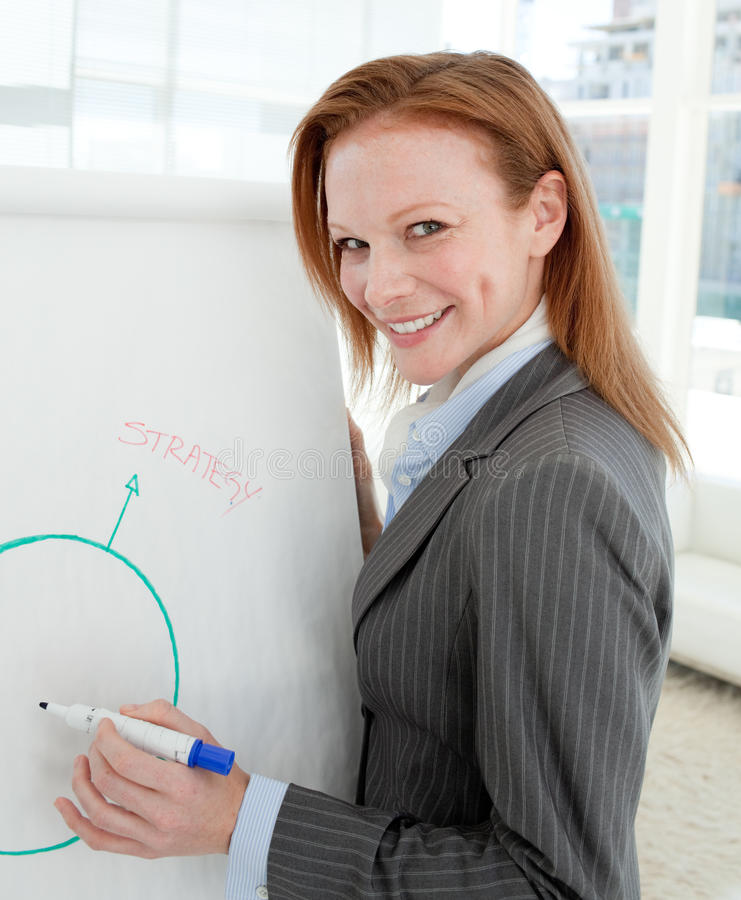 Female manager at a presentation stock images