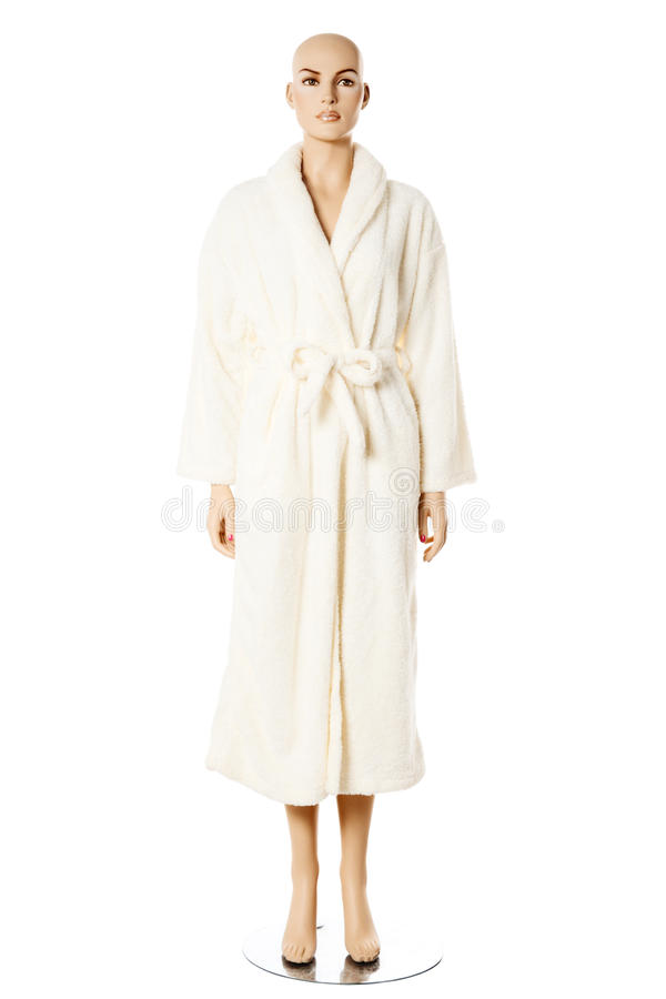 Download Female Mannequin In Bath Robe   Isolated Stock Photo - Image: 19970278
