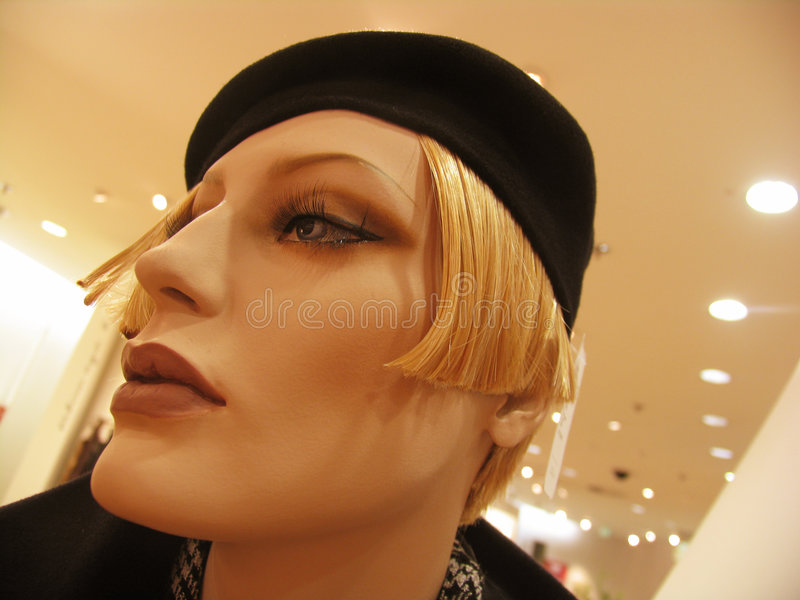 Female mannequin head royalty free stock images