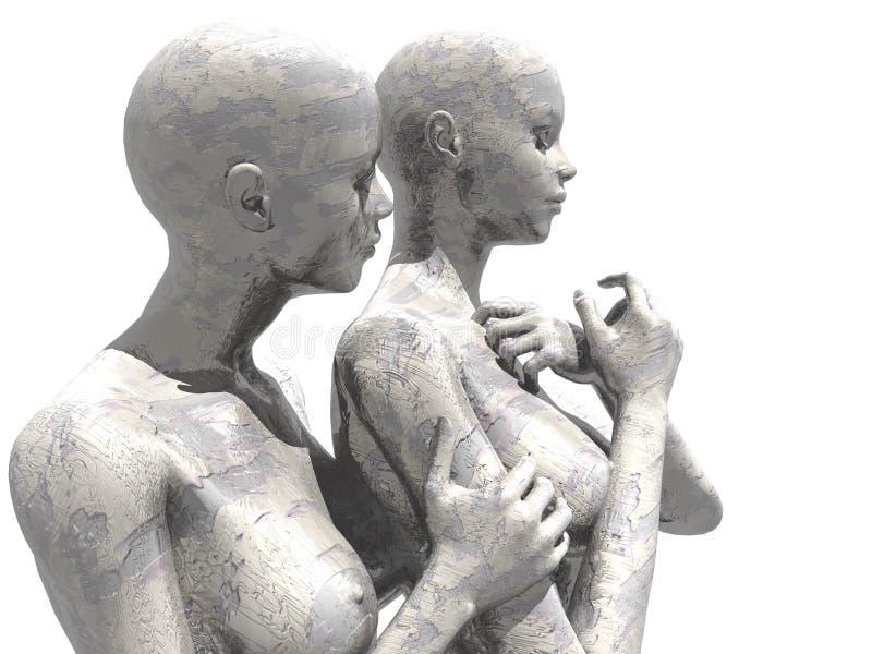Female mannequins royalty free illustration