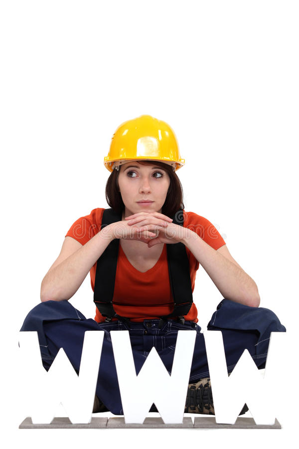 Download Female manual worker stock photo. Image of isolated, beauty - 27808256