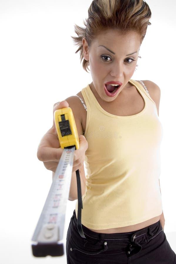 female measurement tape στοκ εικόνες με δικαίωμα ελεύθερης χρήσης