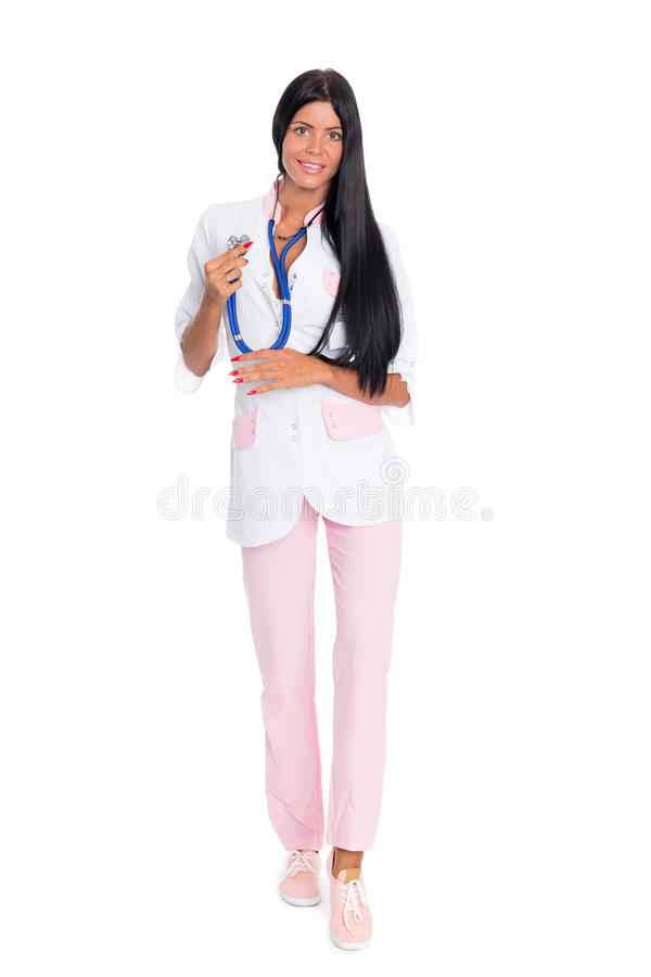 Female medical doctor in full length royalty free stock image