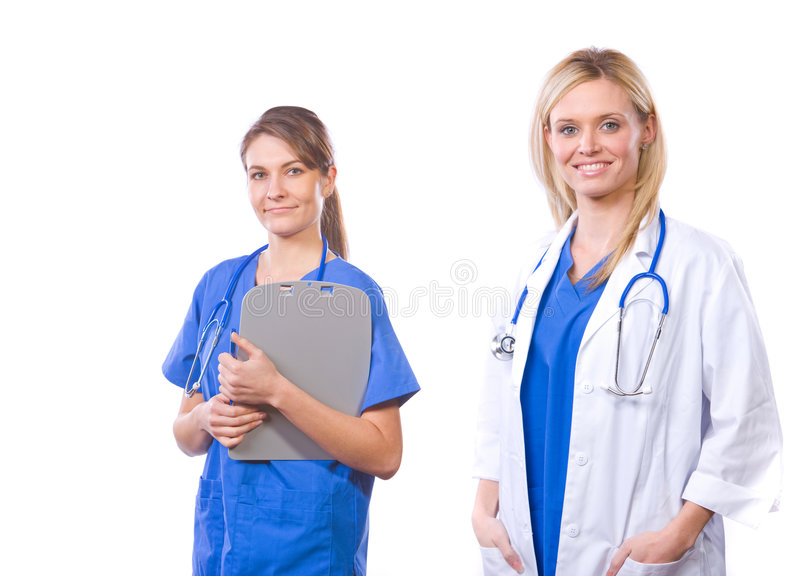 Download Female Medical Team Isolated On White Stock Image - Image: 9023145