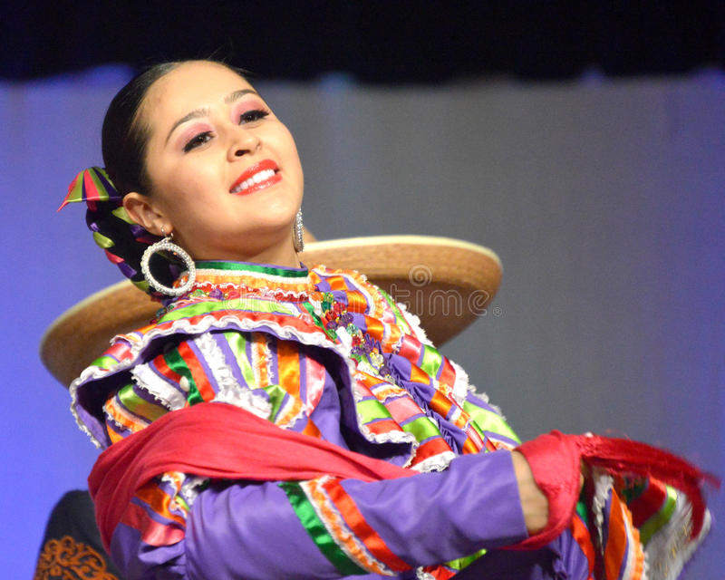 Female Mexican Dancer royalty free stock photography