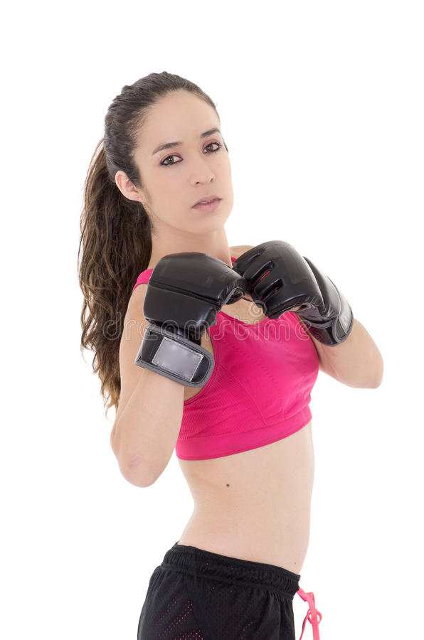 Free Female Mixed Martial Arts Fighter In MMA Style Royalty Free Stock Photography - 34589547