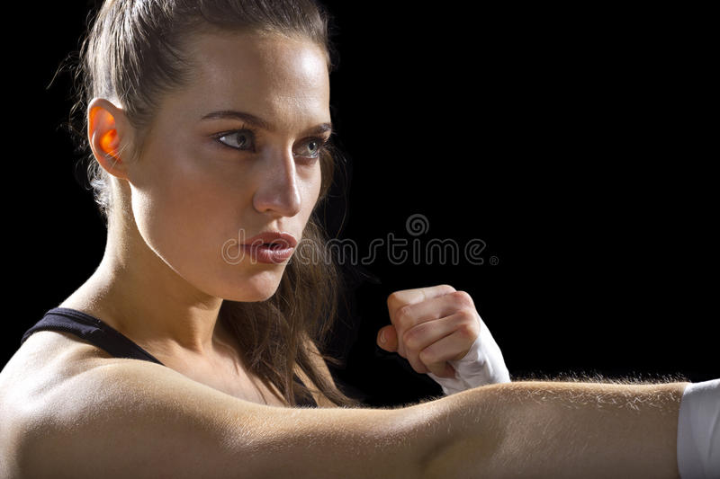 Female MMA Fighter stock photos