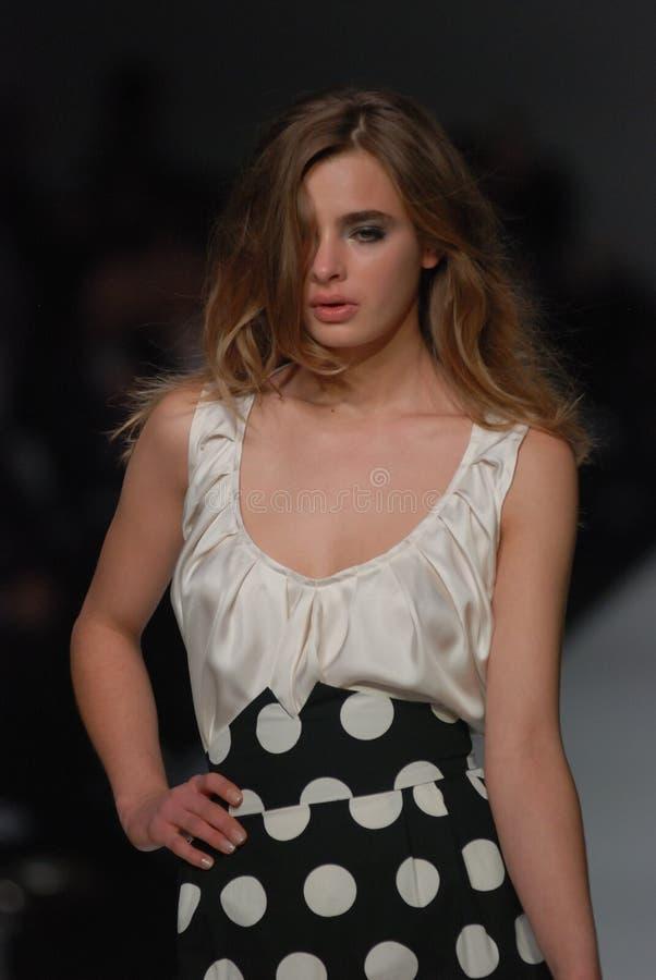 Female model at an Australian fashion show stock image