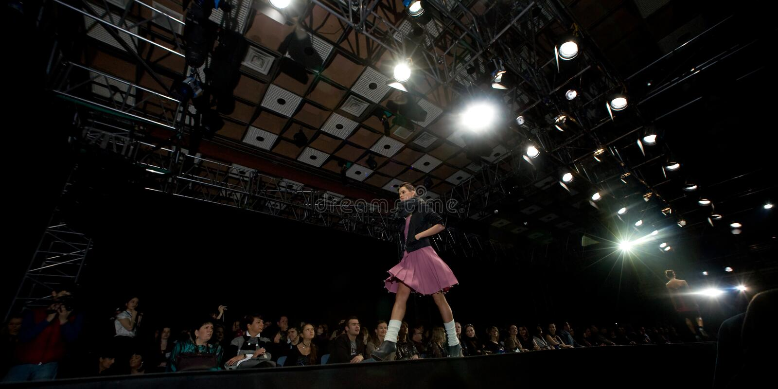 Download Female Model At A Fashion Show On The Catwalk (Rus Editorial Photo - Image: 4880906