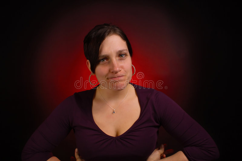 Female model with PMS royalty free stock image