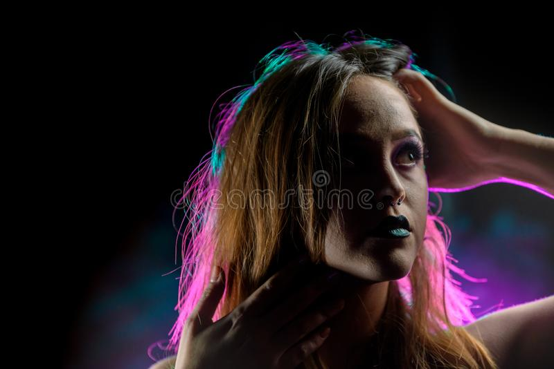 Neon Dreaming royalty free stock images