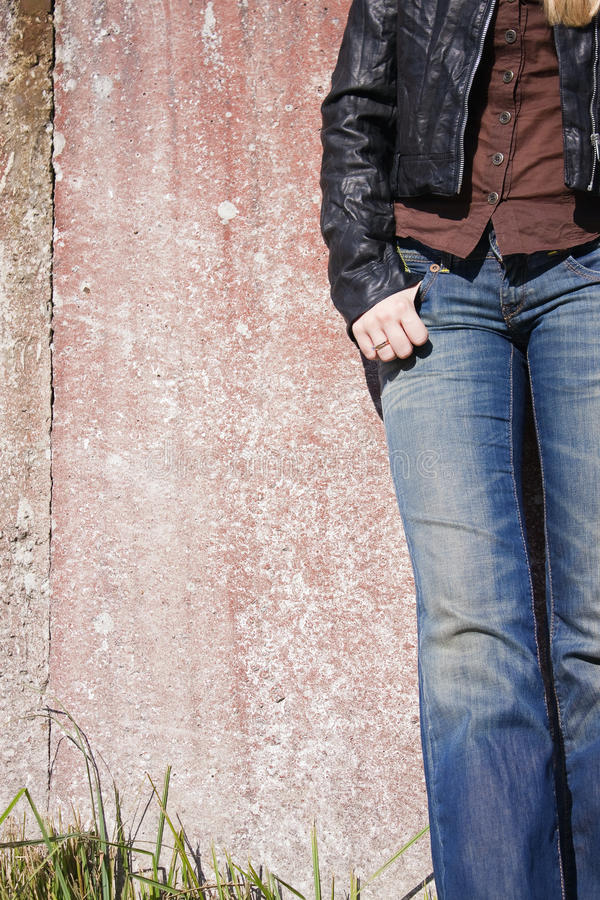 Free Female Model Standing At The Wall Royalty Free Stock Photography - 10924867