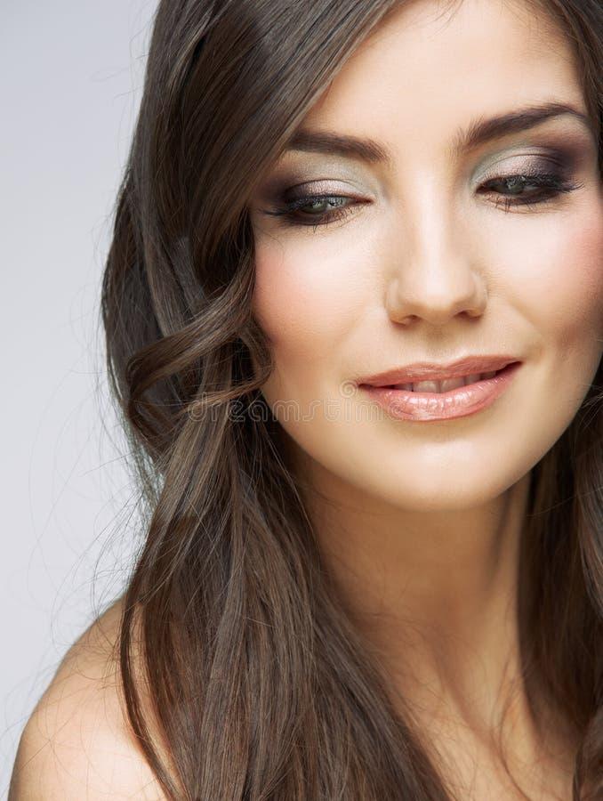 Download Female Model Studio Posing.Beauty Smiling Woman Fa Stock Image - Image: 31154587