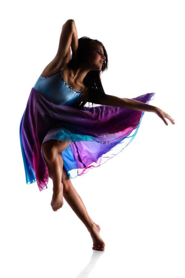 女性现代舞蹈家 库存照片