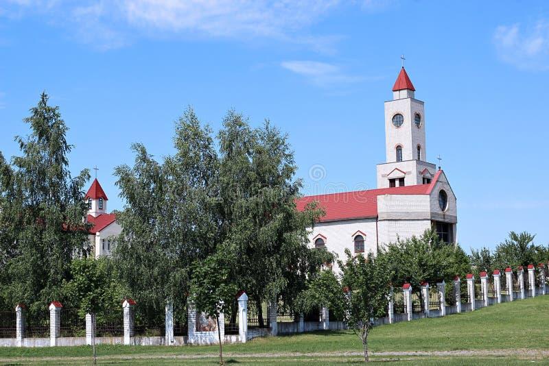 The Female monastery in Baranovichi, Belarus. The Female monastery in Baranovichi on a sunny day royalty free stock image