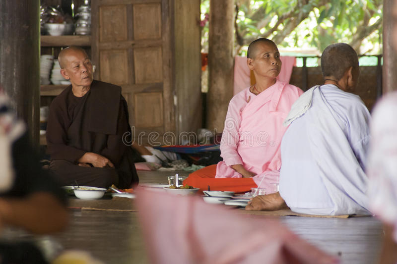 Female monks royalty free stock images