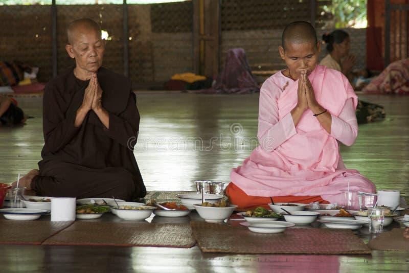 Female monks stock photos