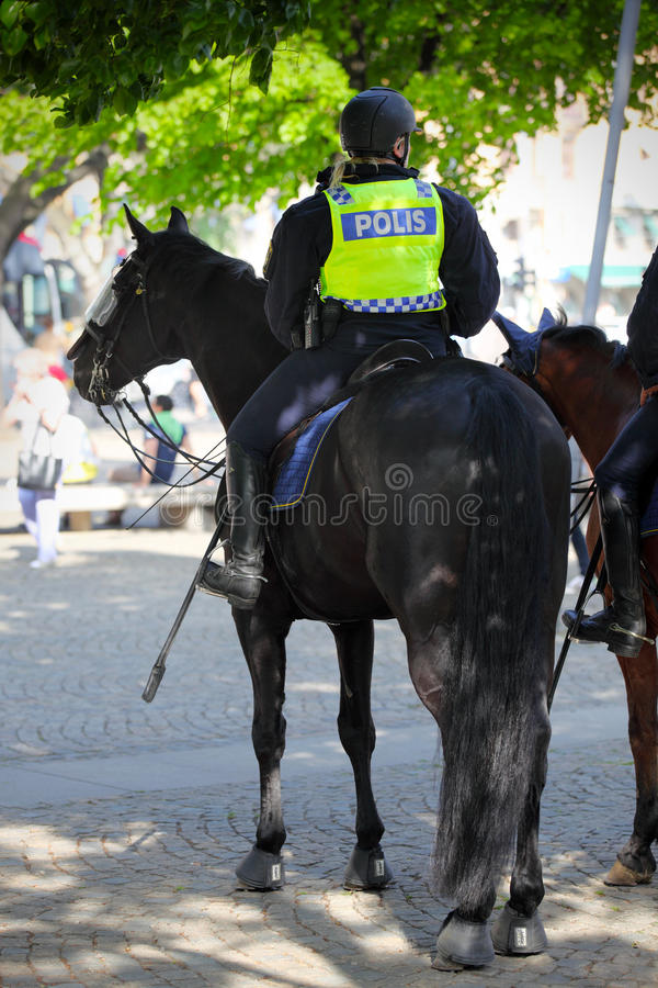 Female mounted police royalty free stock images