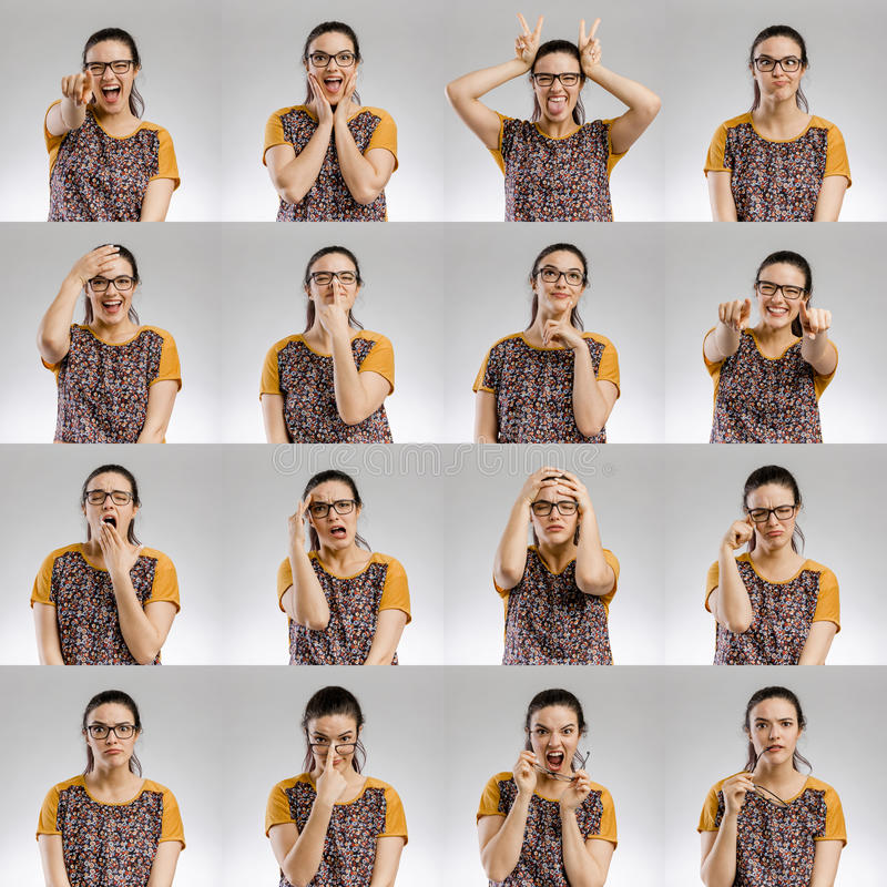 Female Multiple Portraits royalty free stock images